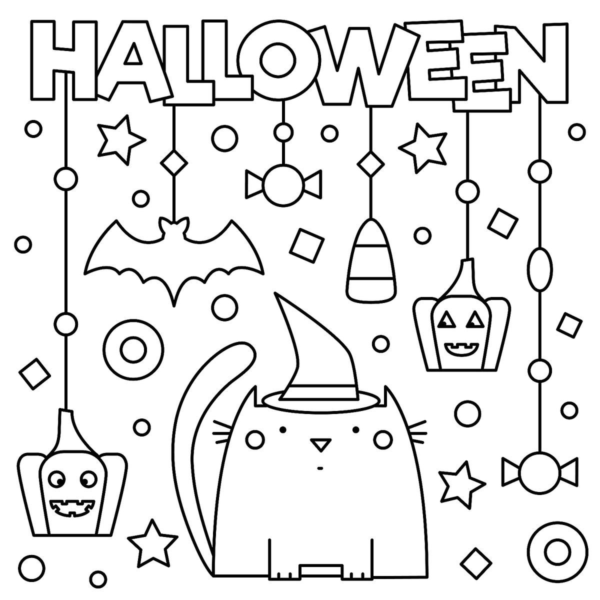 Halloween Coloring Sheets For Kids  Halloween Coloring Pages 10 Free Spooky Printable