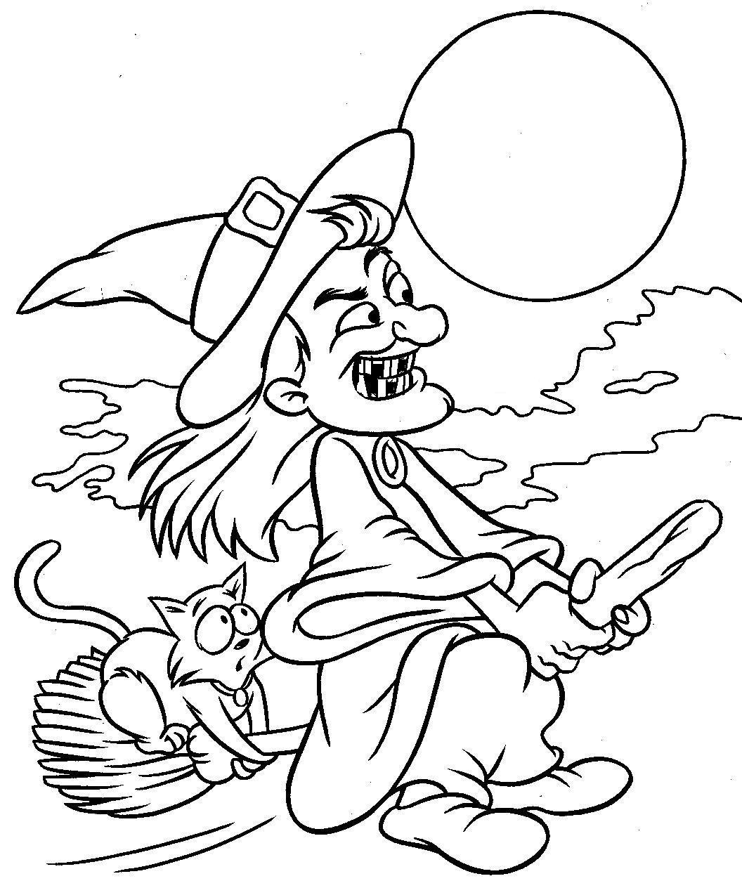 Halloween Coloring Sheets For Kids  coloring Halloween coloring pics