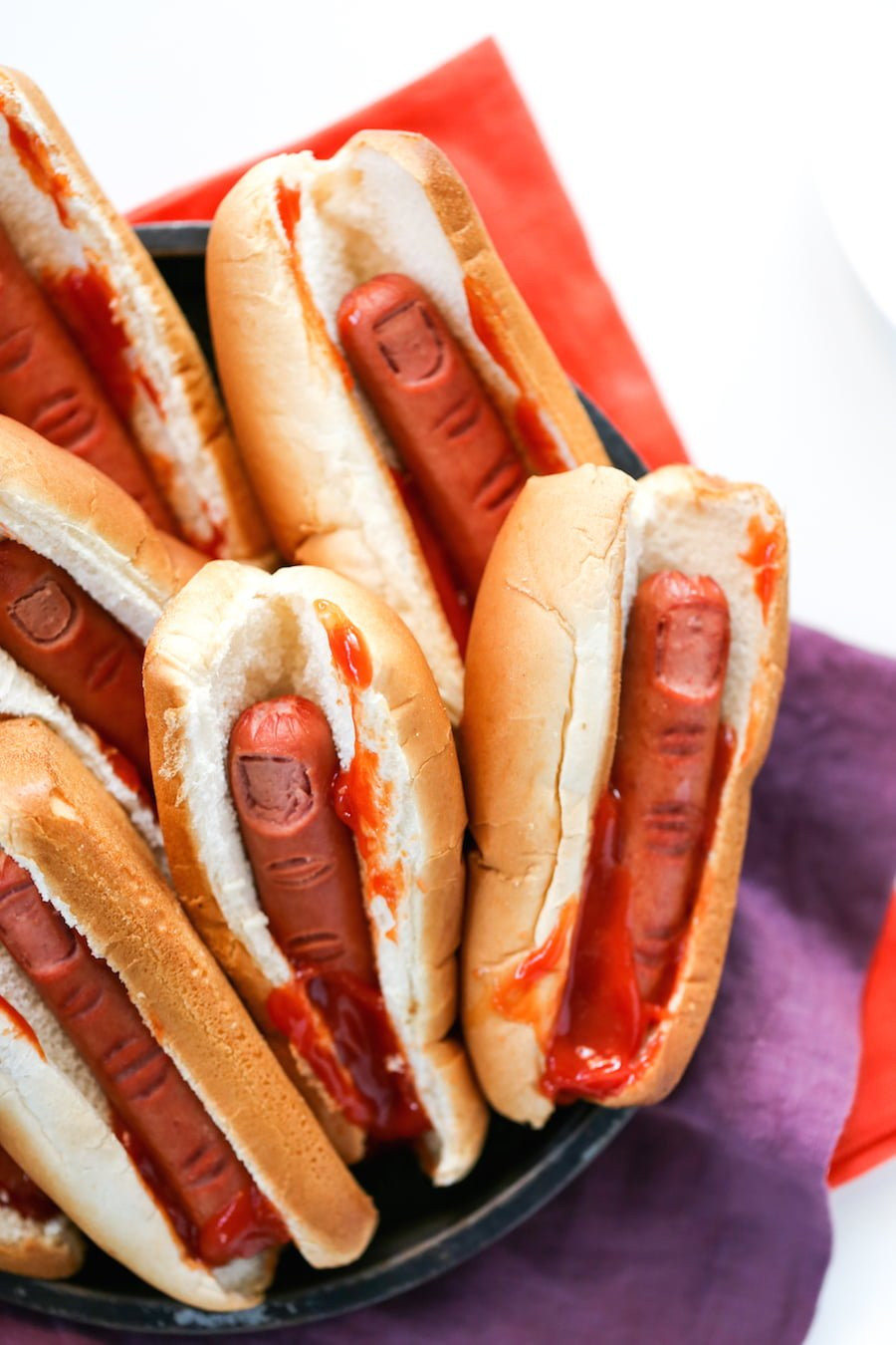 Halloween Hot Dogs  Bloody Finger Hot Dogs for Halloween