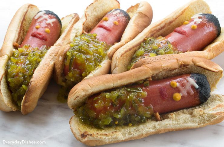 Halloween Hot Dogs  Halloween Recipes and Party Ideas