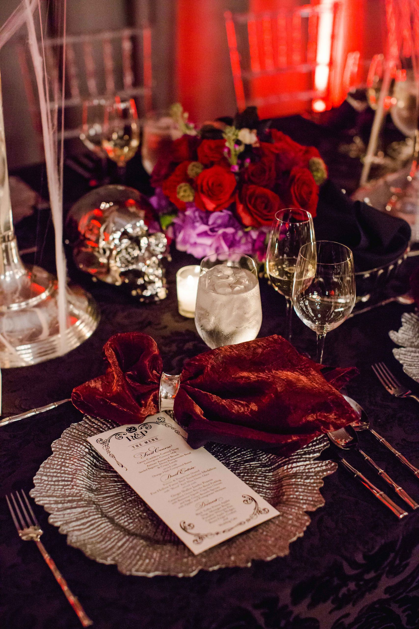 Halloween Themed Weddings  A Chic and Sophisticated Halloween Themed Wedding Inside