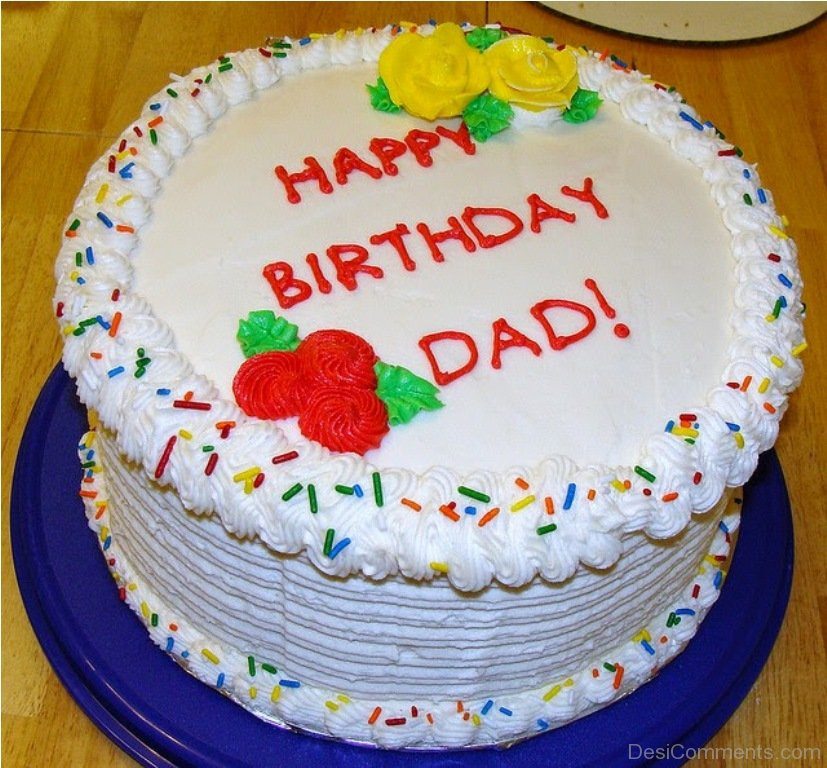 Happy Birthday Dad Cake  Birthday Wishes for Father Graphics for