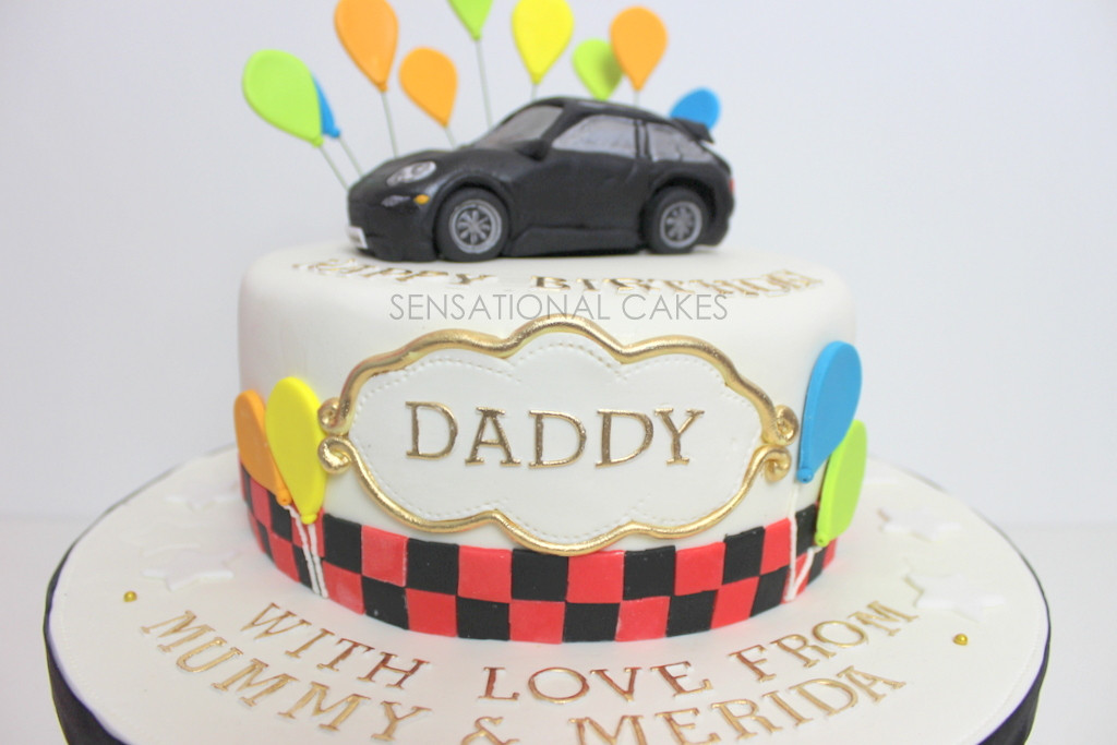 Happy Birthday Dad Cake  The Sensational Cakes PORSCHE 3D CAKE FOR DADDY RED