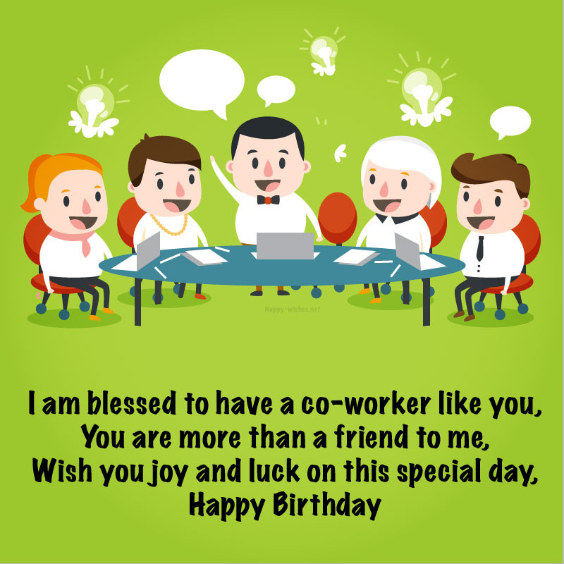 Happy Birthday Wishes To A Coworker  Birthday Wishes For Coworker – Quotes Ultra Wishes