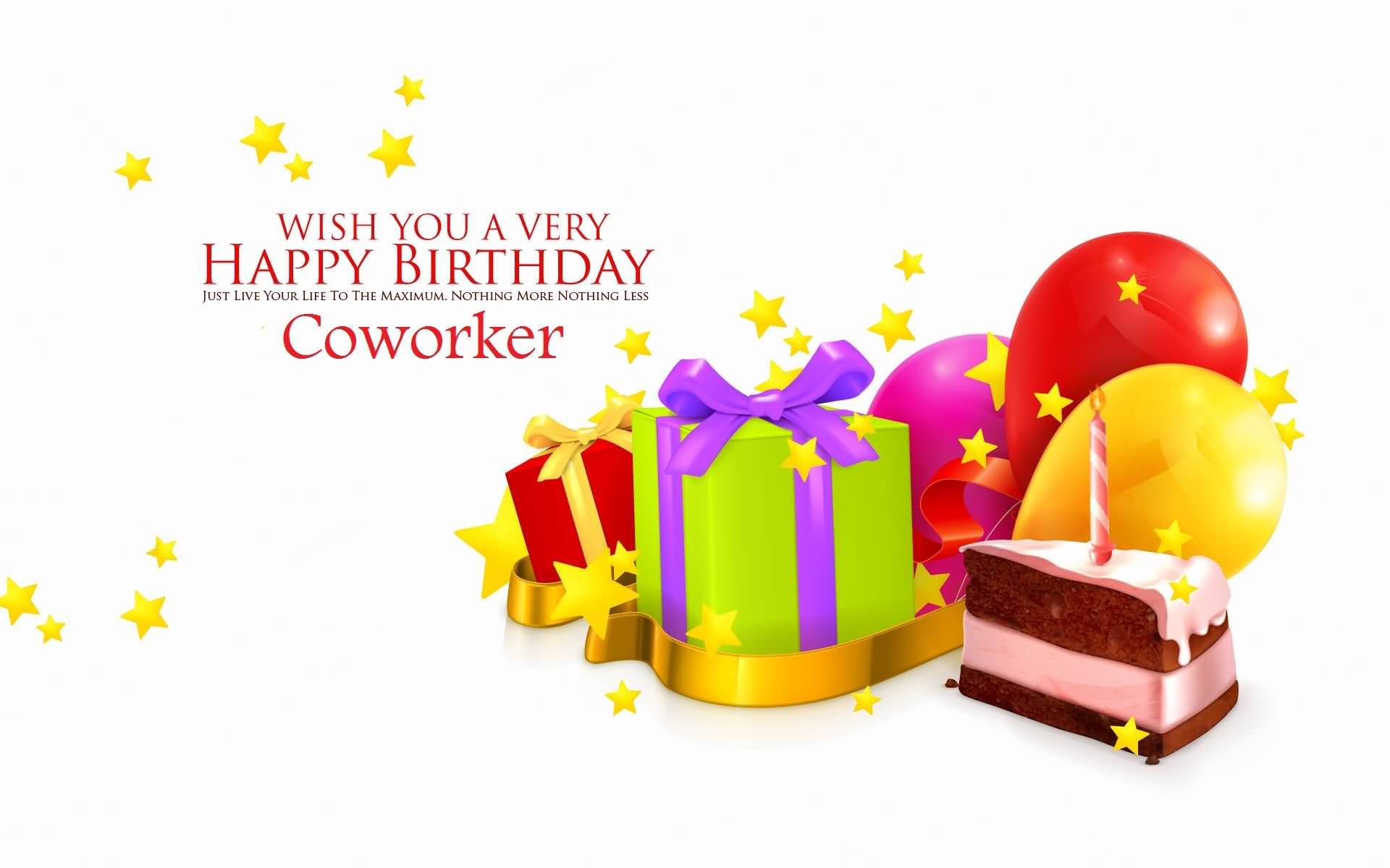 Happy Birthday Wishes To A Coworker  42 Nice Coworker Birthday Wishes Greetings & s