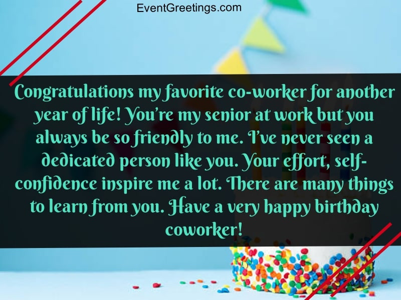 Happy Birthday Wishes To A Coworker  80 Touching Birthday Wishes And Messages For Coworker