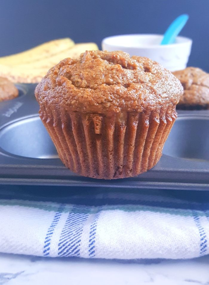 Healthy Banana Muffins With Applesauce  Healthy Banana Applesauce Muffins Recipe