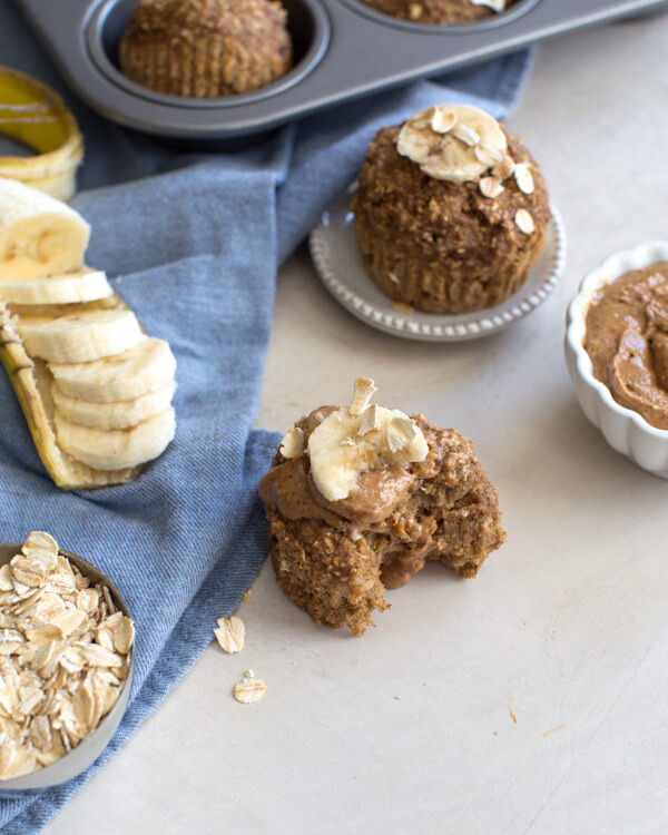 Healthy Banana Muffins With Applesauce  Banana Oatmeal Muffins Have A Plant
