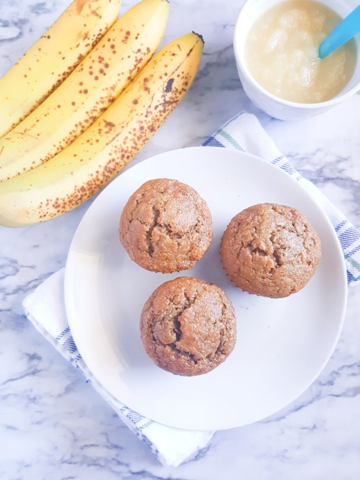 Healthy Banana Muffins With Applesauce  Healthy Banana Applesauce Muffins Ealith