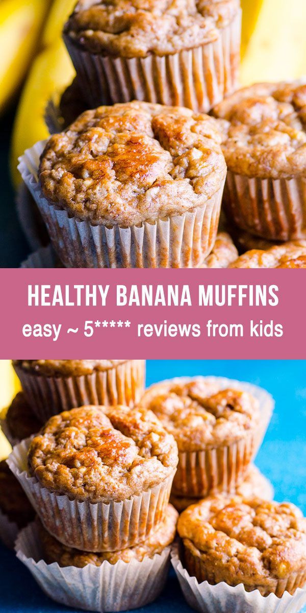 Healthy Banana Muffins With Applesauce  Healthy Banana Muffins with applesauce whole wheat flour