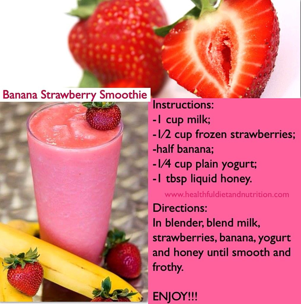 Healthy Banana Smoothie Recipes For Weight Loss  Pin op Smoothie