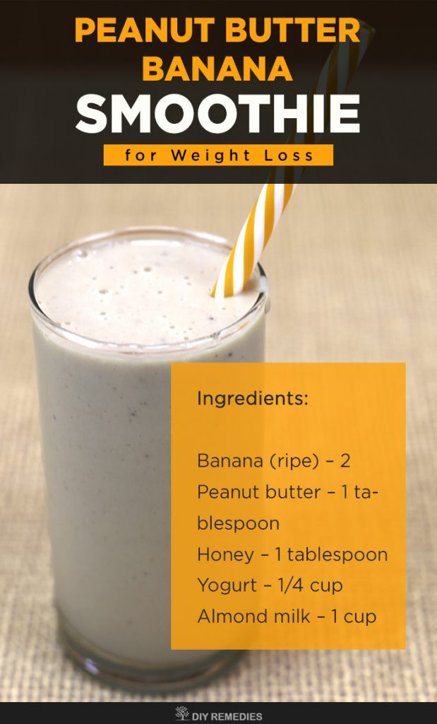 Healthy Banana Smoothie Recipes For Weight Loss  Peanut Butter Banana Smoothie for Weight Loss