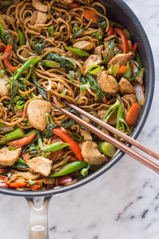 Healthy Chinese Chicken Recipes  The Easiest Chicken Chow Mein 雞肉炒麵 30 Minutes