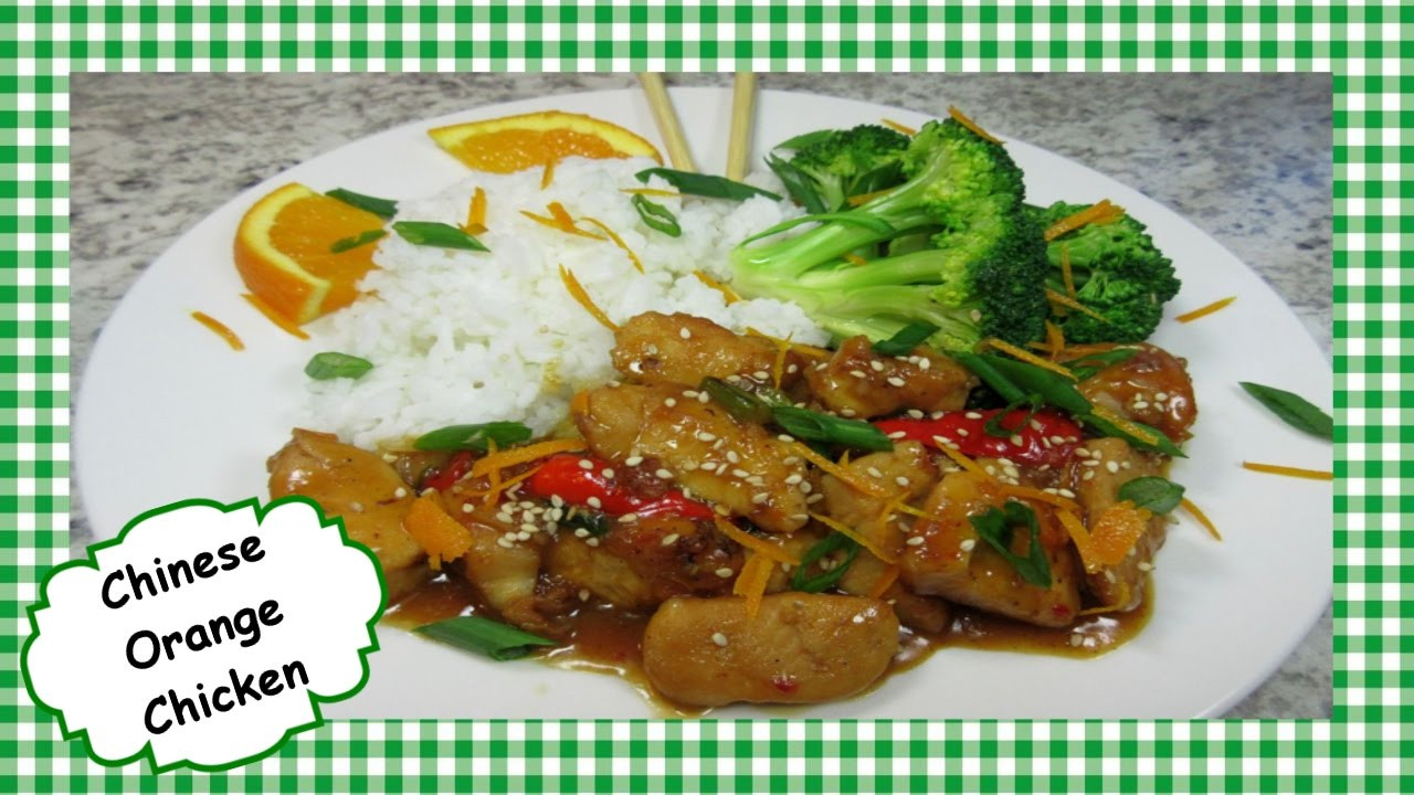 Healthy Chinese Chicken Recipes  Chinese Orange Chicken Stir Fry Easy Healthy Chinese
