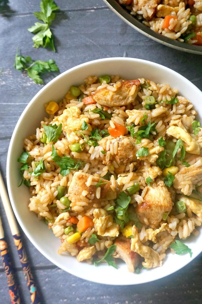 Healthy Chinese Chicken Recipes  Healthy Chinese Chicken Egg Fried Rice Recipe My
