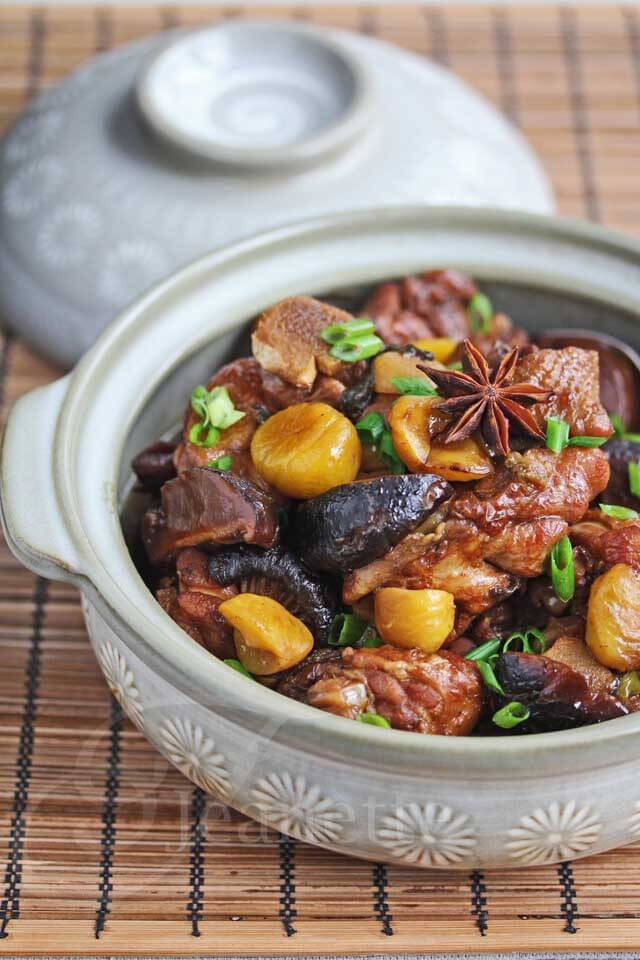 Healthy Chinese Chicken Recipes  Chinese Braised Chicken with Chestnuts Recipe Jeanette s
