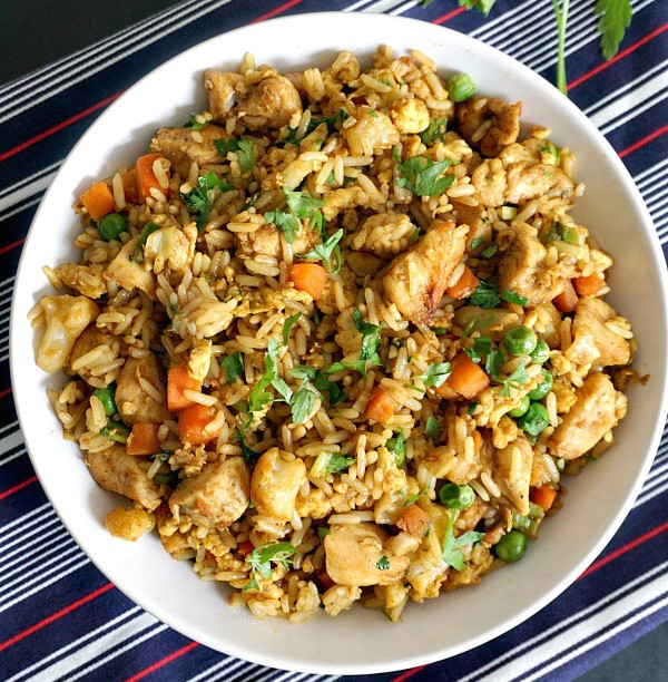 Healthy Chinese Chicken Recipes  Healthy Chinese chicken egg fried rice recipe
