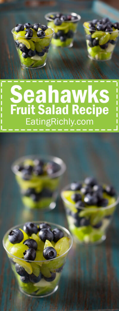 Healthy Football Appetizers  Healthy Football Appetizer Seahawks Fruit Salad Cups