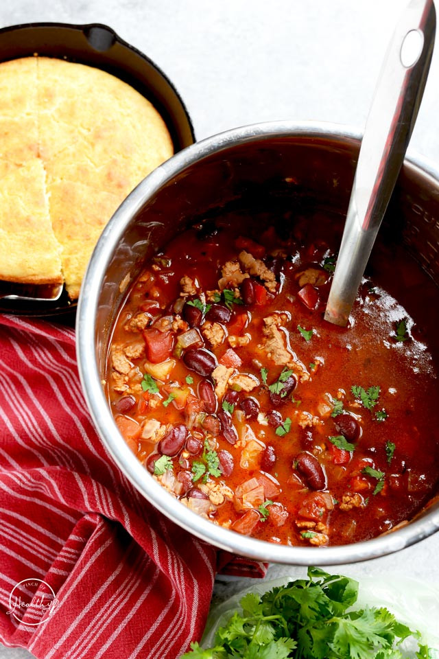 Healthy Turkey Chili  Healthy Turkey Chili Instant Pot Slow Cooker or Stovetop