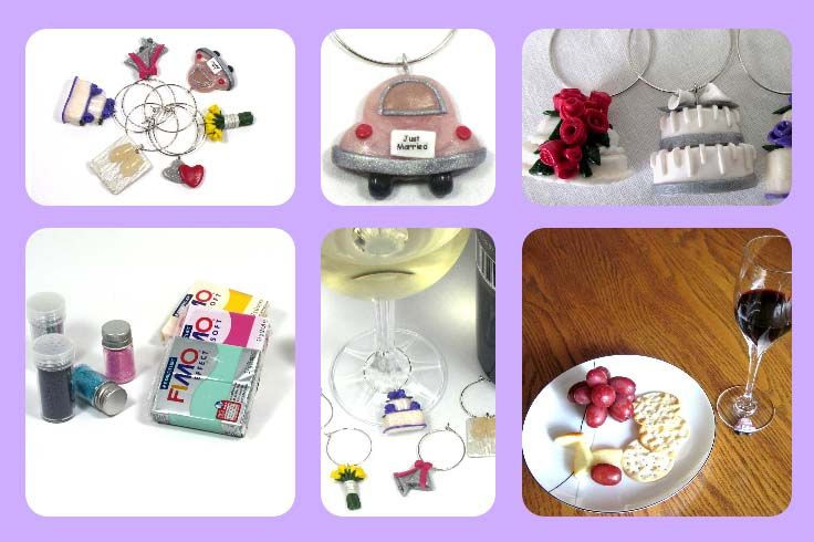 Host Gift Ideas For Couples  Wedding Themed Wine Glass Charm Markers Hostess Gift