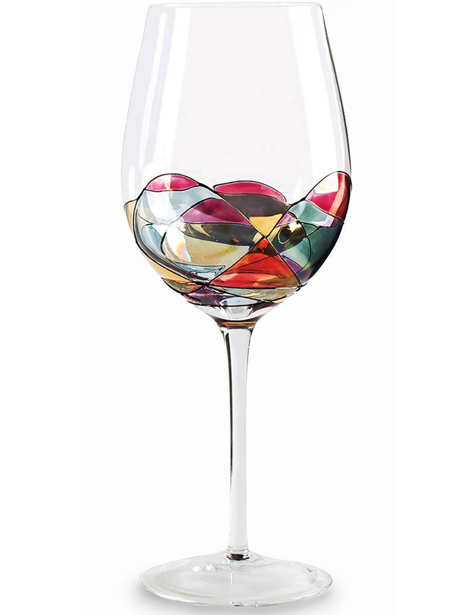 Host Gift Ideas For Couples  Beautiful Hand Painted Wine Glasses Set of 2