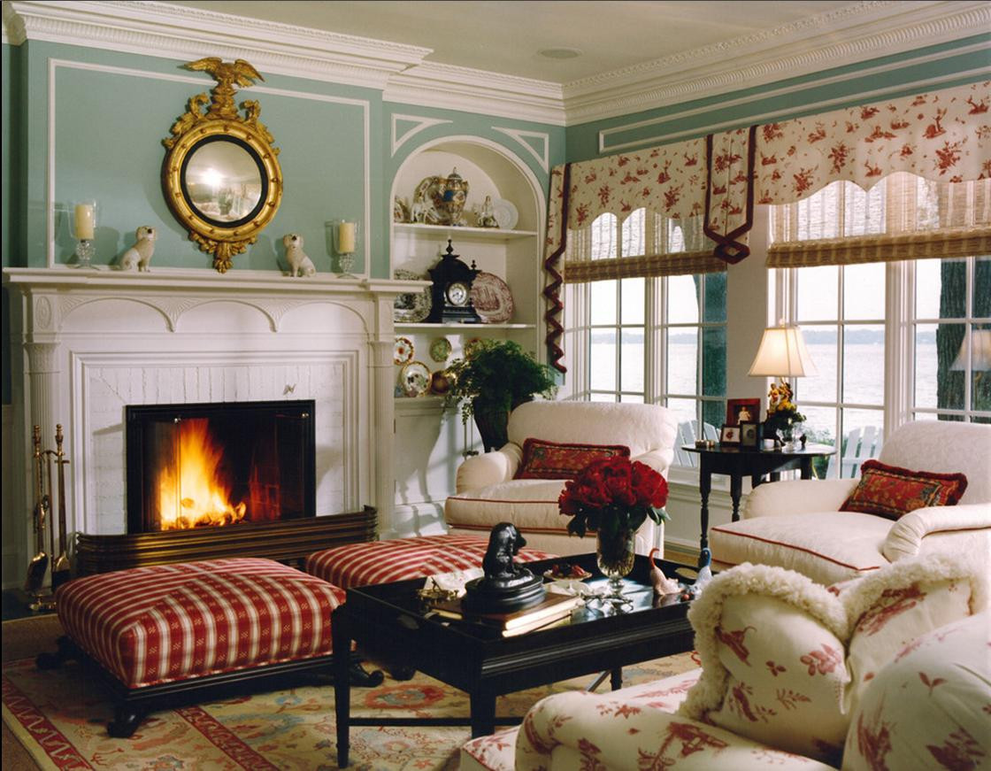 Houzz Living Room Ideas  Delorme Designs WYTHE BLUE AND RED