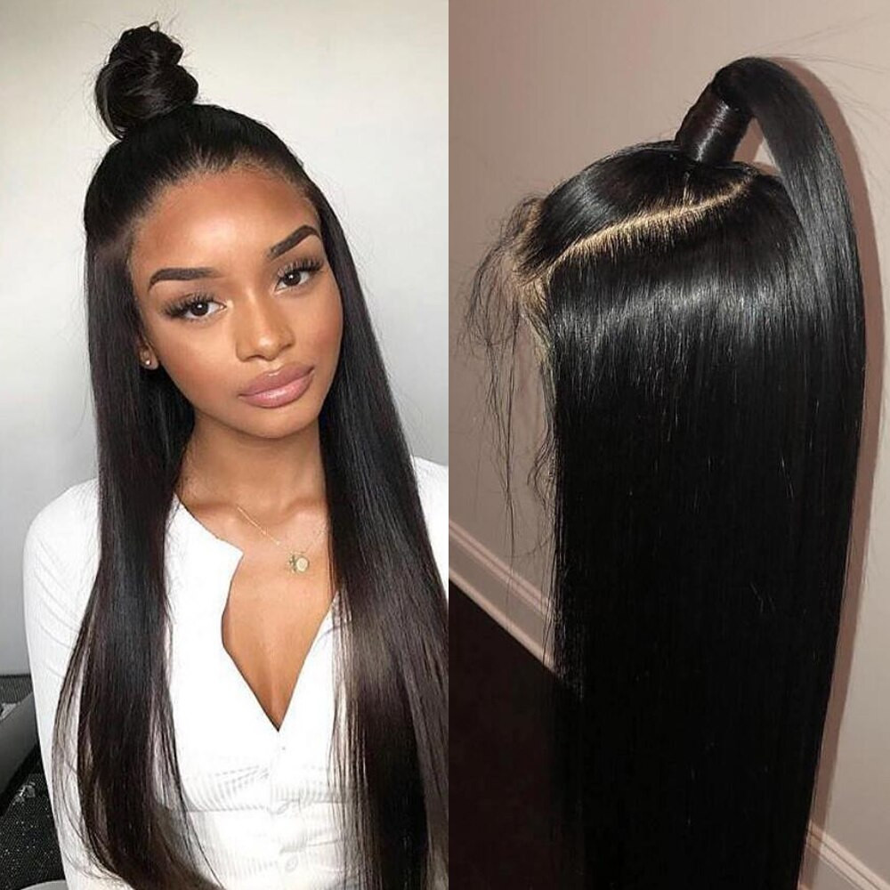 Human Hair Lace Front Wigs With Baby Hair  AllRun 360 Lace Frontal Wig Pre Plucked With Baby Hair