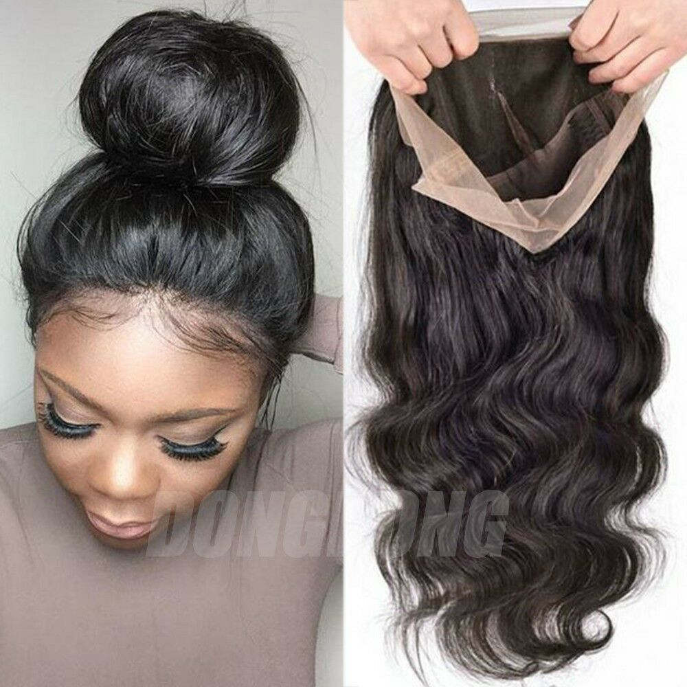 Human Hair Lace Front Wigs With Baby Hair  Peruvian Human Hair Wig Silk Top Base Full Lace Lace Front