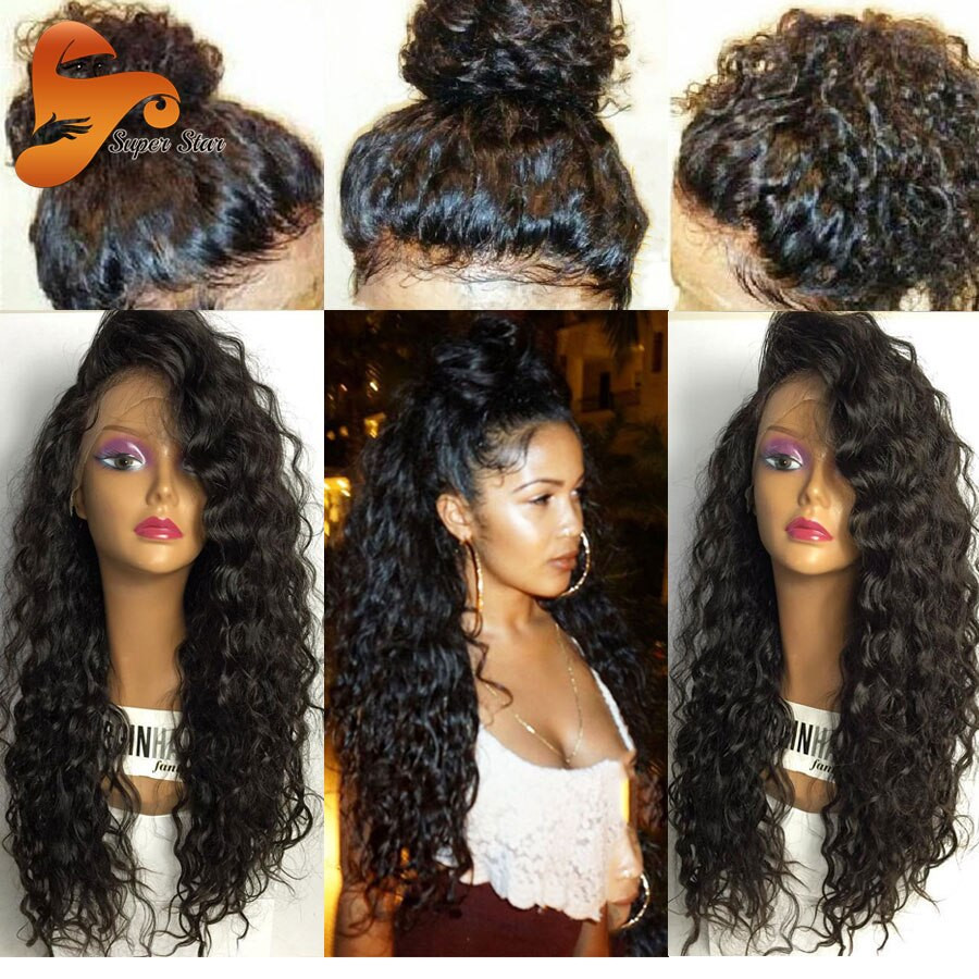 Human Hair Lace Front Wigs With Baby Hair  8A Pre Plucked Full Lace Human Hair Wigs With Baby