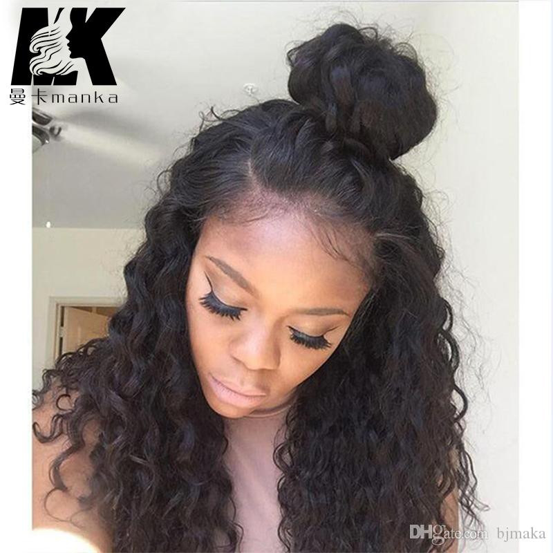 Human Hair Lace Front Wigs With Baby Hair  Pre Plucked Natural Hairline Full Lace Wig Human Hair Lace