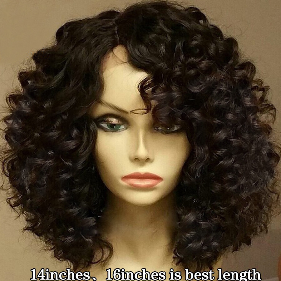 Human Hair Lace Front Wigs With Baby Hair  Curly Lace Front Wigs Baby Hair Glueless Full Lace Wigs