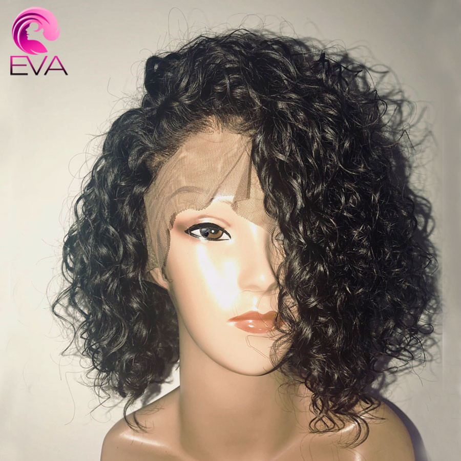Human Hair Lace Front Wigs With Baby Hair  Density Curly Lace Front Human Hair Wigs With Baby
