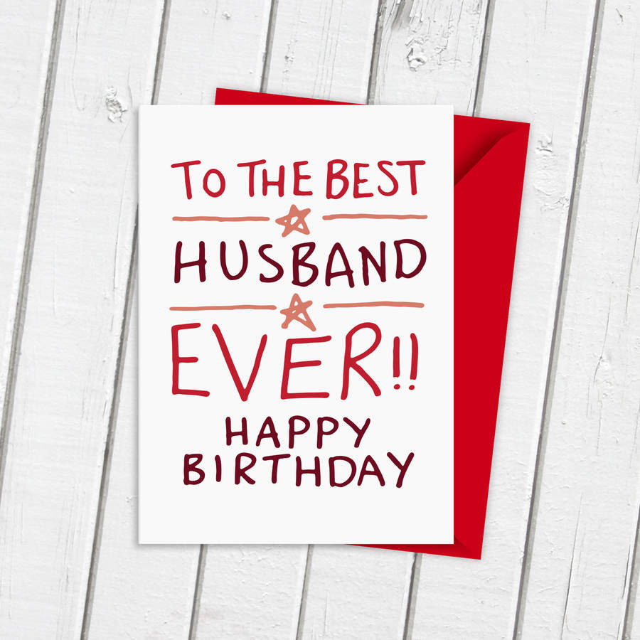 Husband Birthday Card  birthday card for best husband ever by a is for alphabet