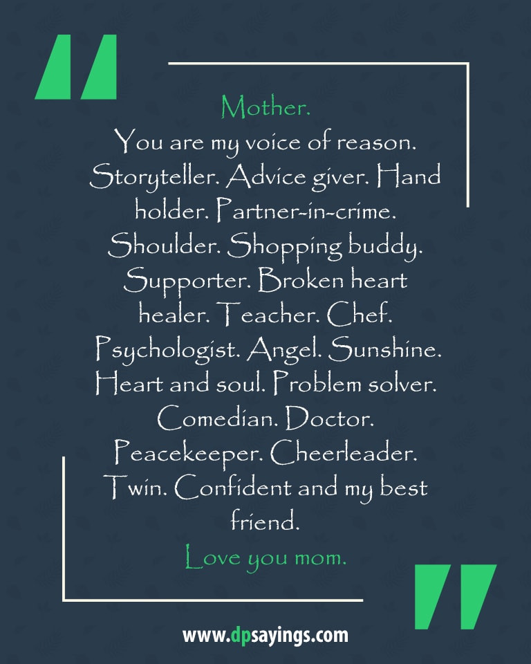 I Love My Mother In Law Quotes  60 Heartwarming I Love You Mom Quotes And Sayings DP Sayings