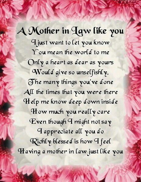 I Love My Mother In Law Quotes  Mama Terri here s for you when I marry your son love