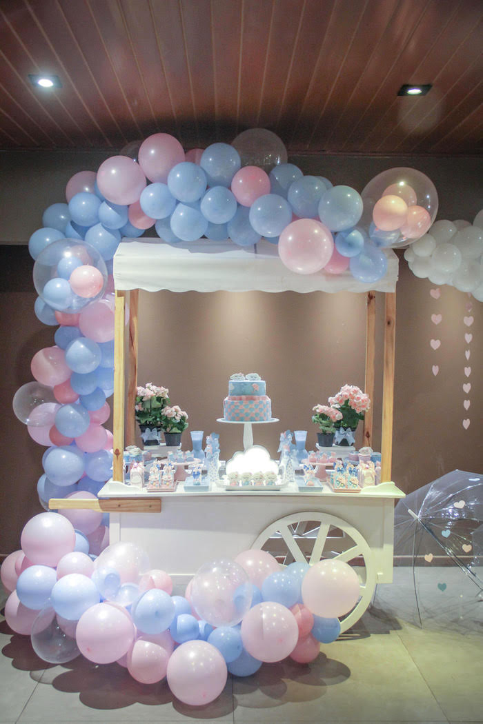 Ideas For A Gender Reveal Party  Kara s Party Ideas Raindrop Themed Gender Reveal Party