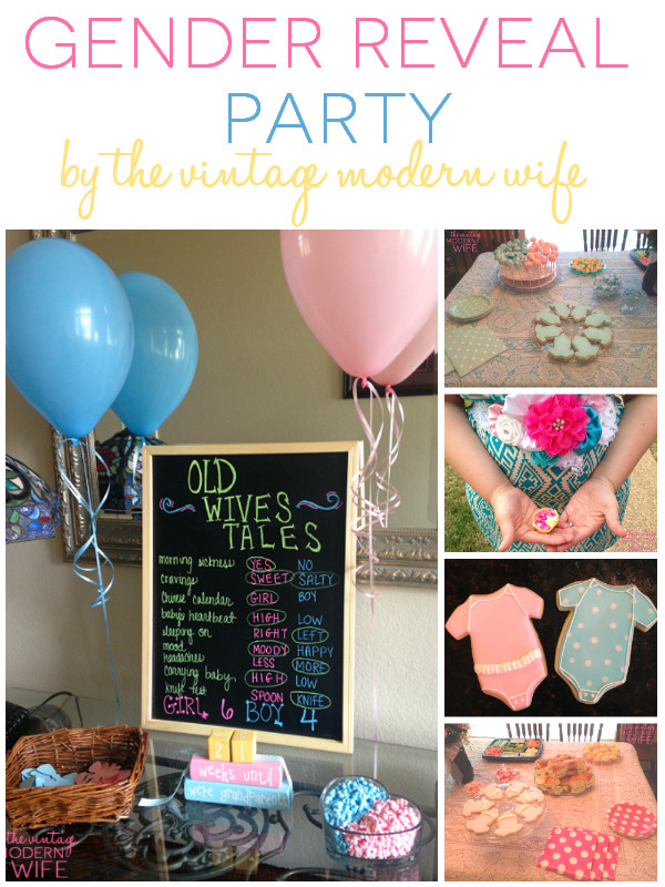 Ideas For A Gender Reveal Party  Our Big Gender Reveal Party The Vintage Modern Wife