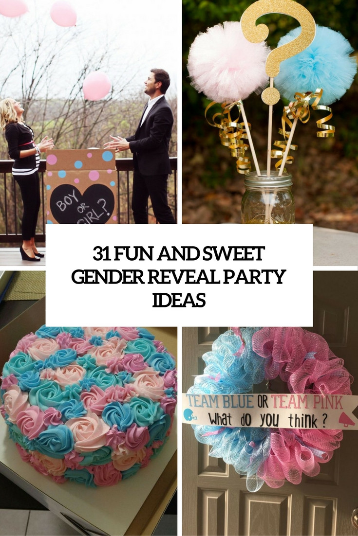 Ideas For A Gender Reveal Party  31 Fun And Sweet Gender Reveal Party Ideas Shelterness
