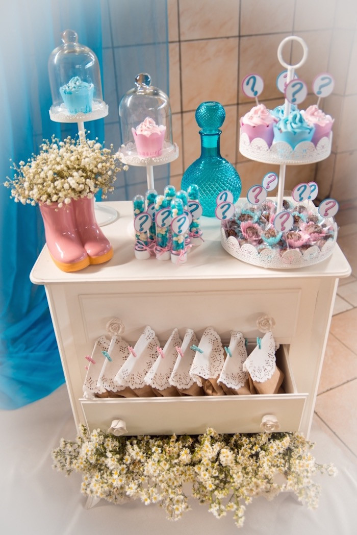 Ideas For A Gender Reveal Party  Kara s Party Ideas Gender Reveal Tea Party