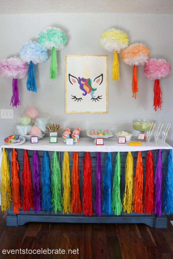 Ideas For Unicorn Party  Unicorn Party Decorations and Food