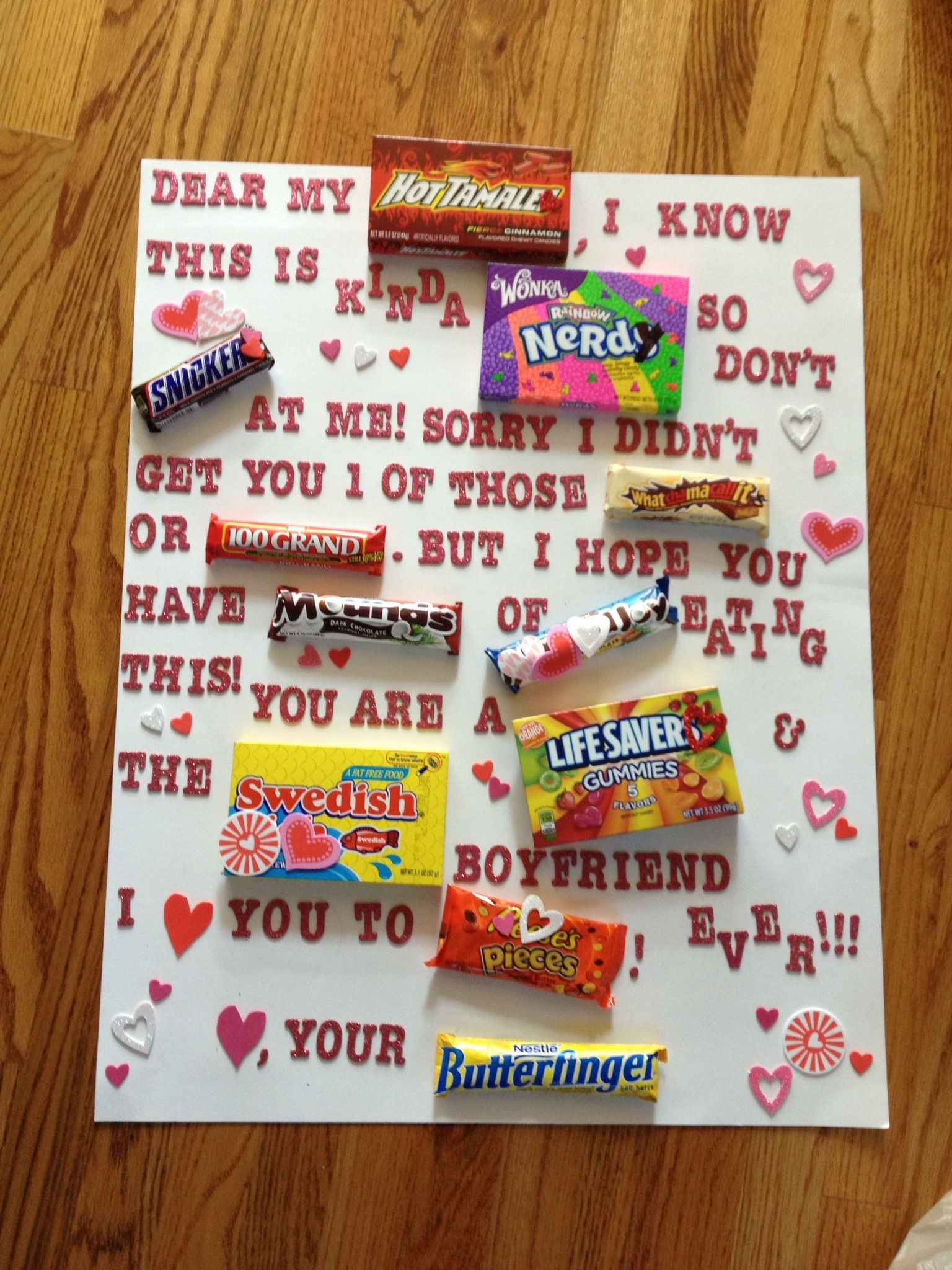 Ideas For Valentines Gift For Boyfriend  What I made my boyfriend for Valentines day