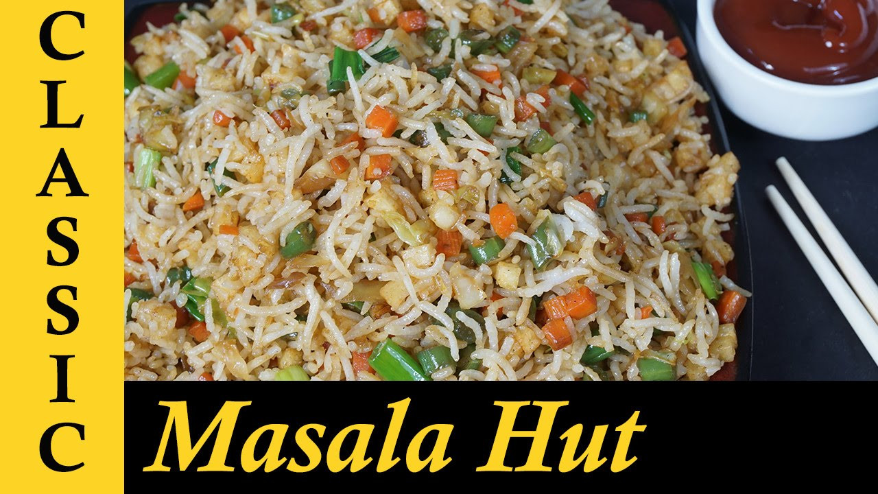 Indian Fried Rice  How to make Ve able Fried Rice Ve able Fried Rice