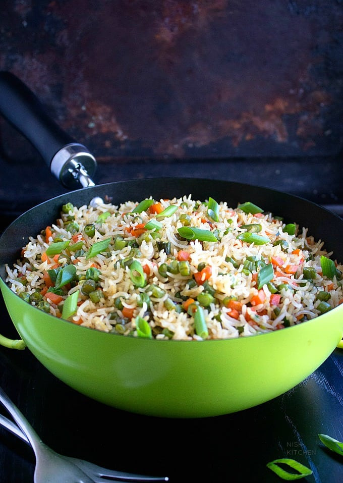 Indian Fried Rice  Ve able Fried Rice Indian Style Video
