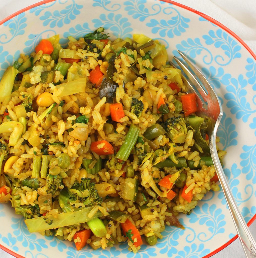 Indian Fried Rice  Indian Style Ve able Fried Rice