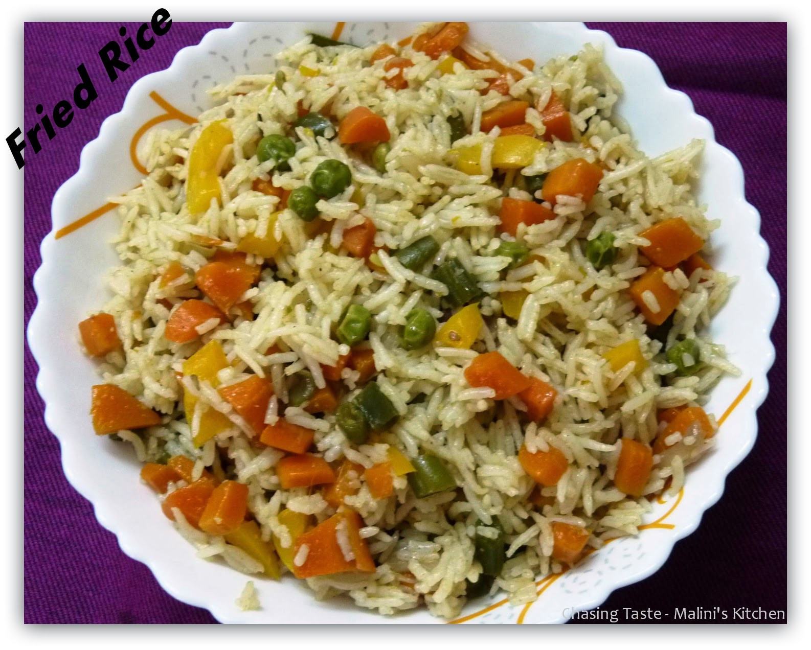 Indian Fried Rice  Chasing Taste Ve able Fried Rice Recipe Indian Style