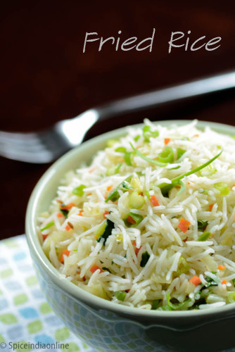 Indian Fried Rice  EASY FRIED RICE RECIPE INDIAN STYLE Spicy Indian Style