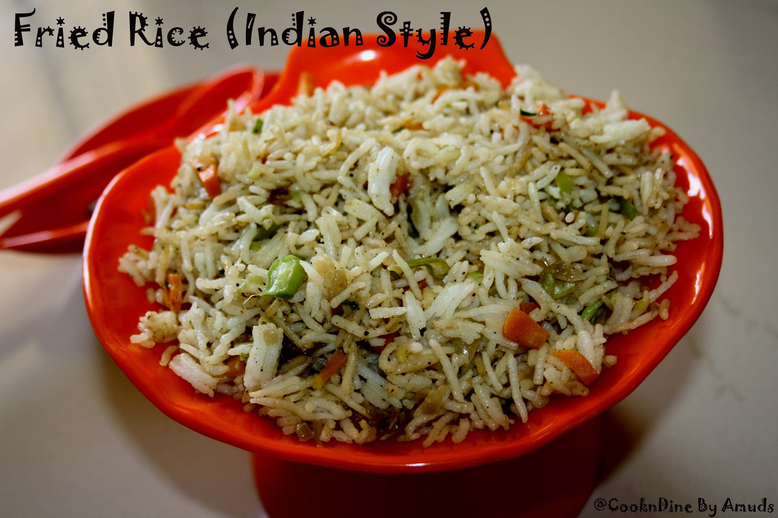 Indian Fried Rice  CooknDine Ve able Fried Rice Indian Style