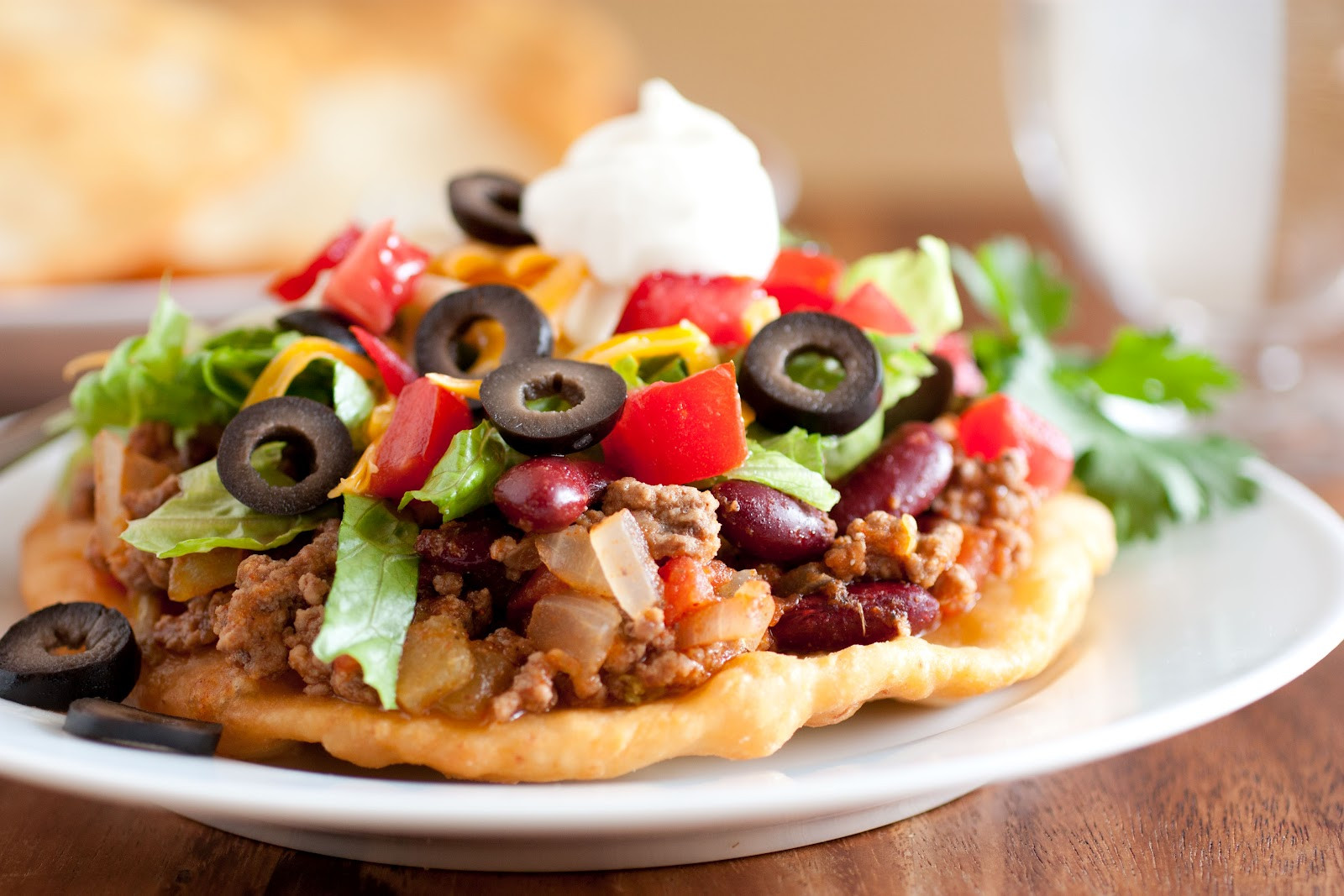 Indian Taco Fry Bread Recipe  indian fry bread taco calories