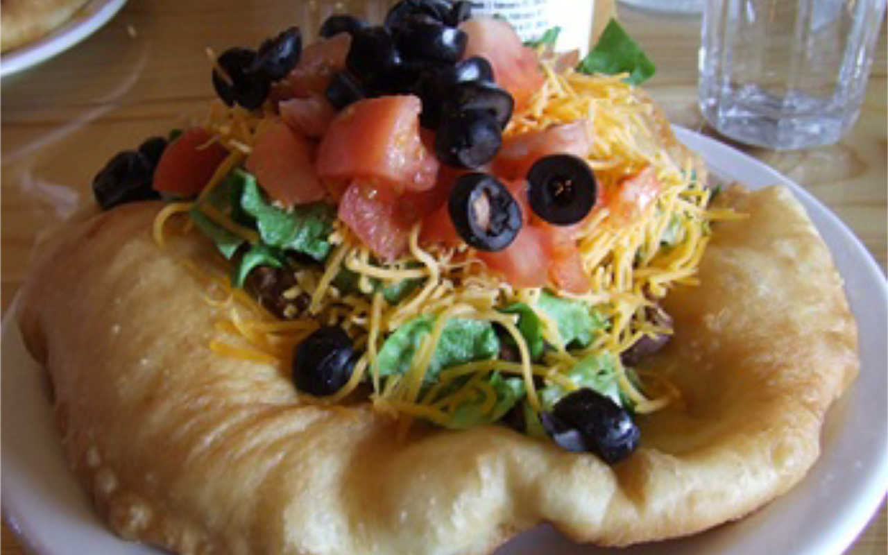 Indian Taco Fry Bread Recipe  Indian Fry Bread and Indian Taco Recipe Whats Cooking America