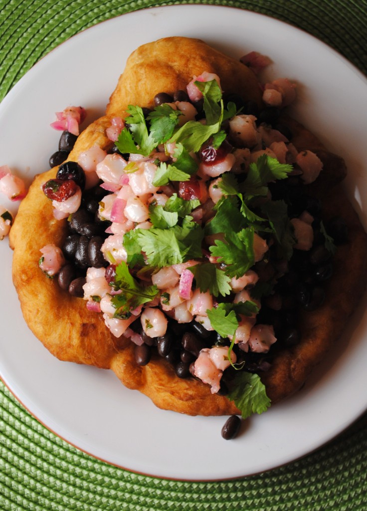 Indian Taco Fry Bread Recipe  Indian Frybread Taco with Hominy Salsa